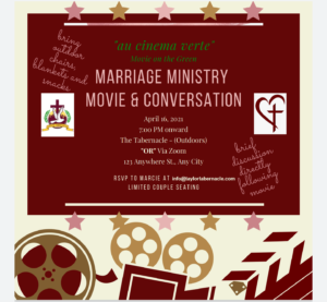 Marriage Ministry Movie & Conversation
